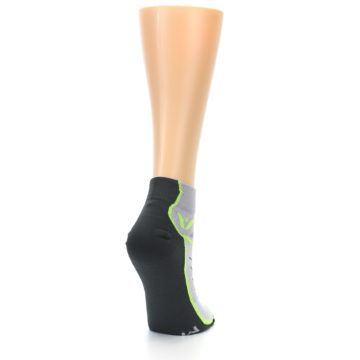 Image of Gray Lime Vibe Women's Ankle Athletic Socks (side-1-back-21)