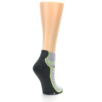 Image of Gray Lime Vibe Women's Ankle Athletic Socks (side-1-back-22)