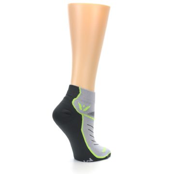 Image of Gray Lime Vibe Women's Ankle Athletic Socks (side-1-23)