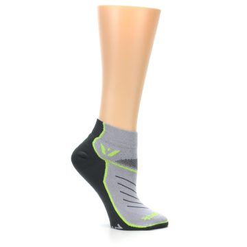 Image of Gray Lime Vibe Women's Ankle Athletic Socks (side-1-25)