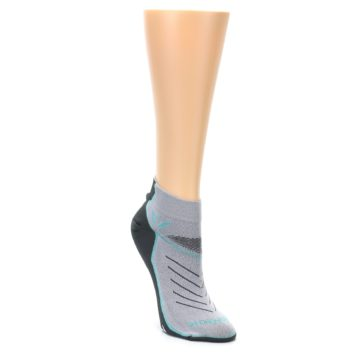 Image of Gray Mint Vibe Women's Ankle Athletic Socks (side-1-front-02)
