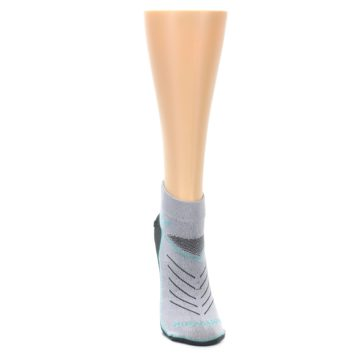 Image of Gray Mint Vibe Women's Ankle Athletic Socks (front-04)