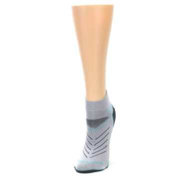 Image of Gray Mint Vibe Women's Ankle Athletic Socks (side-2-front-07)