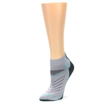 Image of Gray Mint Vibe Women's Ankle Athletic Socks (side-2-09)