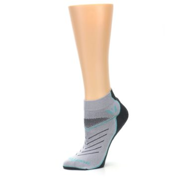 Image of Gray Mint Vibe Women's Ankle Athletic Socks (side-2-10)