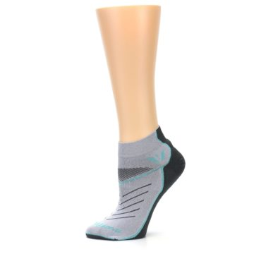 Image of Gray Mint Vibe Women's Ankle Athletic Socks (side-2-11)