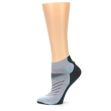 Image of Gray Mint Vibe Women's Ankle Athletic Socks (side-2-12)