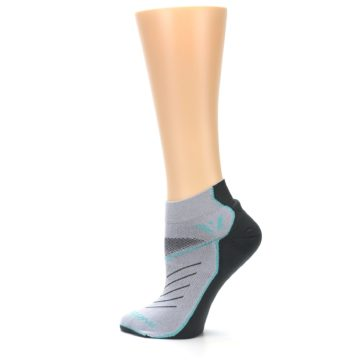 Image of Gray Mint Vibe Women's Ankle Athletic Socks (side-2-13)