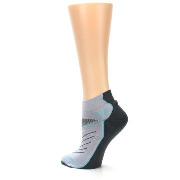 Image of Gray Mint Vibe Women's Ankle Athletic Socks (side-2-back-14)