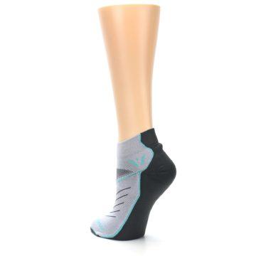 Image of Gray Mint Vibe Women's Ankle Athletic Socks (side-2-back-15)