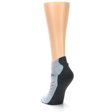 Image of Gray Mint Vibe Women's Ankle Athletic Socks (side-2-back-16)