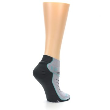 Image of Gray Mint Vibe Women's Ankle Athletic Socks (side-1-23)