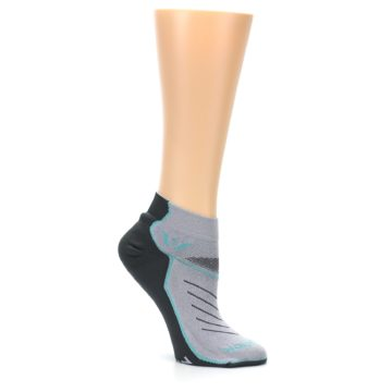Image of Gray Mint Vibe Women's Ankle Athletic Socks (side-1-26)