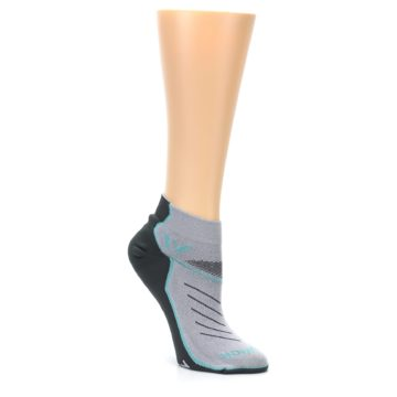 Image of Gray Mint Vibe Women's Ankle Athletic Socks (side-1-27)