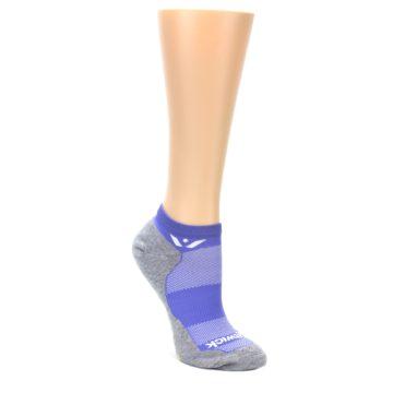 MEDIUM-Gray-Purple-Maxus-Womens-No-Show-Athletic-Socks-Swiftwick