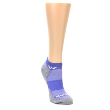 Image of Gray Purple Maxus Women's No-Show Athletic Socks (side-1-front-02)