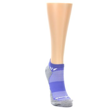 Image of Gray Purple Maxus Women's No-Show Athletic Socks (side-1-front-03)