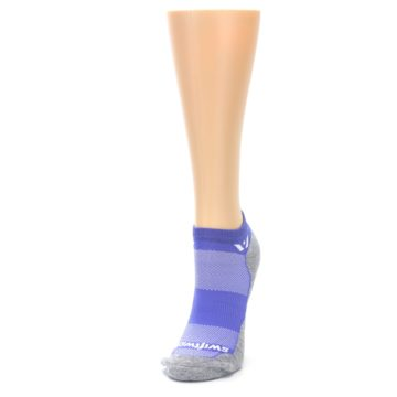 Image of Gray Purple Maxus Women's No-Show Athletic Socks (side-2-front-07)