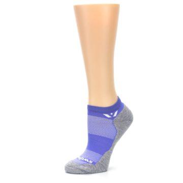 Image of Gray Purple Maxus Women's No-Show Athletic Socks (side-2-10)