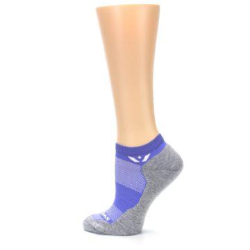 Image of Gray Purple Maxus Women's No-Show Athletic Socks (side-2-13)