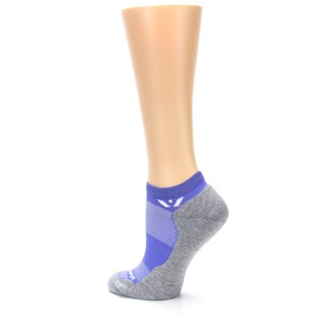 Image of Gray Purple Maxus Women's No-Show Athletic Socks (side-2-back-14)