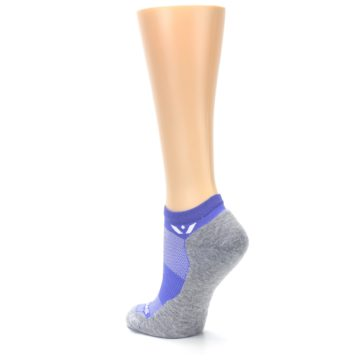 Image of Gray Purple Maxus Women's No-Show Athletic Socks (side-2-back-15)