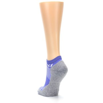 Image of Gray Purple Maxus Women's No-Show Athletic Socks (side-2-back-16)