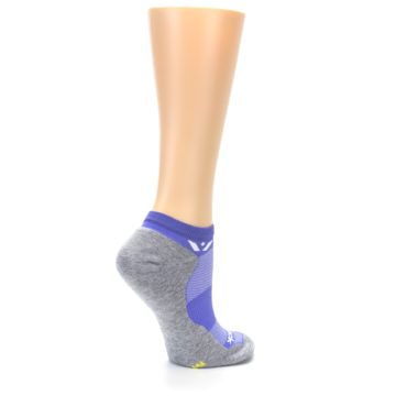 Image of Gray Purple Maxus Women's No-Show Athletic Socks (side-1-23)