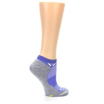 Image of Gray Purple Maxus Women's No-Show Athletic Socks (side-1-24)