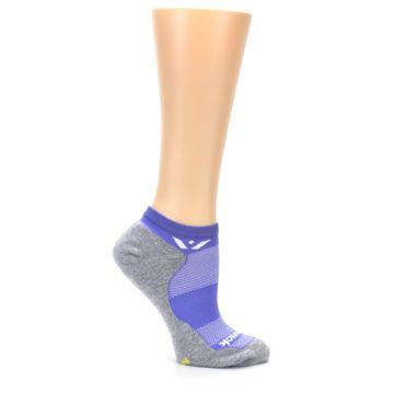 Image of Gray Purple Maxus Women's No-Show Athletic Socks (side-1-25)