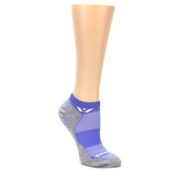 Image of Gray Purple Maxus Women's No-Show Athletic Socks (side-1-27)