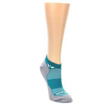 Image of Gray Aqua Maxus Women's No-Show Athletic Socks (side-1-front-02)