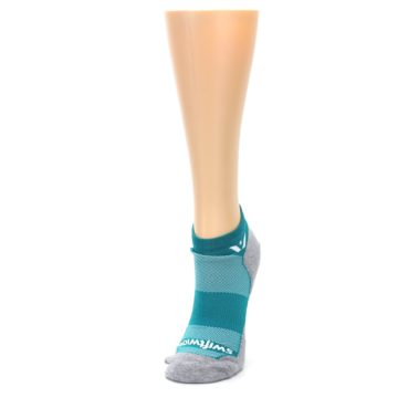 Image of Gray Aqua Maxus Women's No-Show Athletic Socks (side-2-front-07)