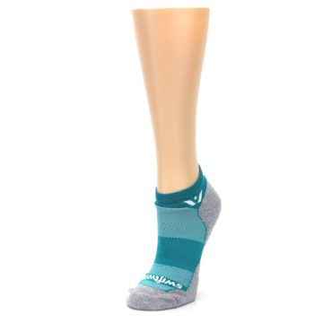 Image of Gray Aqua Maxus Women's No-Show Athletic Socks (side-2-front-08)