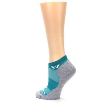 Image of Gray Aqua Maxus Women's No-Show Athletic Socks (side-2-back-14)