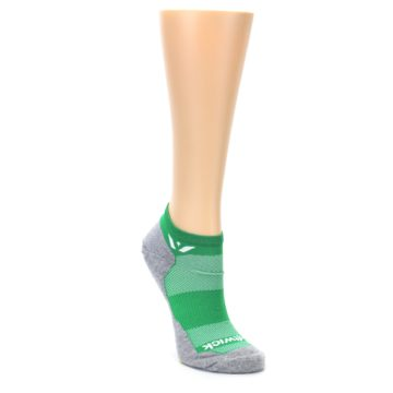 Image of Gray Green Maxus Women's No-Show Athletic Socks (side-1-front-02)