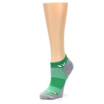 Image of Gray Green Maxus Women's No-Show Athletic Socks (side-2-09)