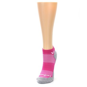 Image of Gray Pink Maxus Women's No-Show Athletic Socks (side-2-front-07)