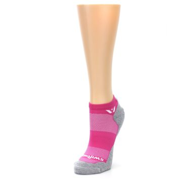 Image of Gray Pink Maxus Women's No-Show Athletic Socks (side-2-front-08)