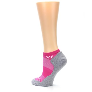 Image of Gray Pink Maxus Women's No-Show Athletic Socks (side-2-back-14)