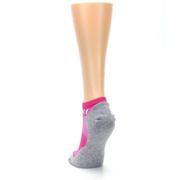 Image of Gray Pink Maxus Women's No-Show Athletic Socks (back-17)
