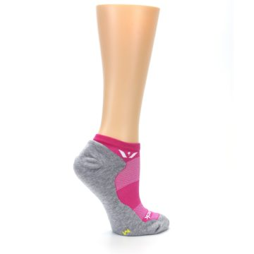 Image of Gray Pink Maxus Women's No-Show Athletic Socks (side-1-24)