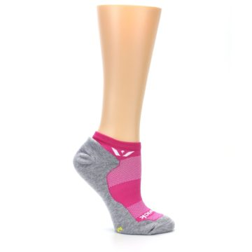 Image of Gray Pink Maxus Women's No-Show Athletic Socks (side-1-25)