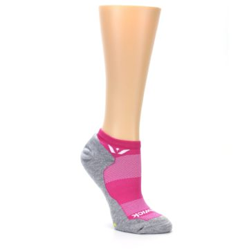 Image of Gray Pink Maxus Women's No-Show Athletic Socks (side-1-27)