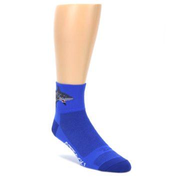 DeFeet Quarter Crew Shark Attack Socks