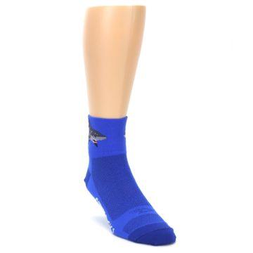 Image of Blue Shark Men's Quarter Crew Athletic Socks (side-1-front-02)