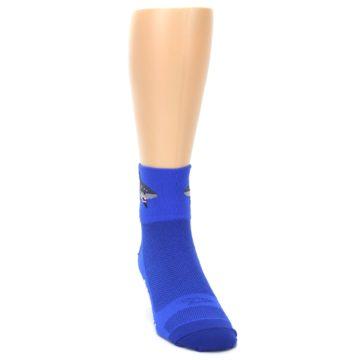 Image of Blue Shark Men's Quarter Crew Athletic Socks (side-1-front-03)