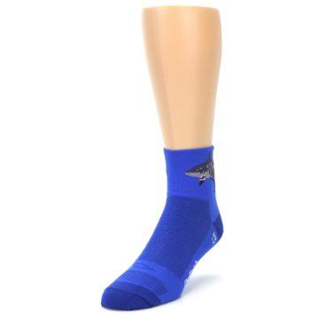 Image of Blue Shark Men's Quarter Crew Athletic Socks (side-2-front-07)