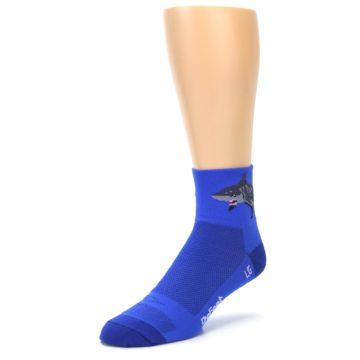 Image of Blue Shark Men's Quarter Crew Athletic Socks (side-2-front-08)