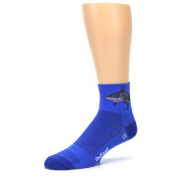 Image of Blue Shark Men's Quarter Crew Athletic Socks (side-2-09)
